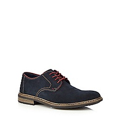 Rieker - Navy suede Derby lace up shoes
