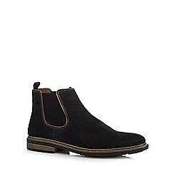Rieker - Navy suede Chelsea boots
