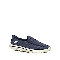 Skechers - Big and tall navy 'Go Walk 2 super sock' slip on shoes