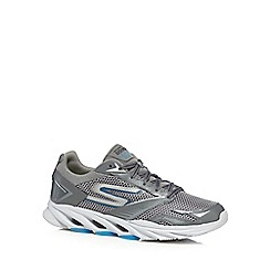 Skechers - Big and tall grey 'go run vortex' running shoes