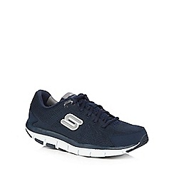 Skechers - Navy shape up trainers