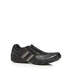 Skechers - Black leather blend 'Diameter Zinroy' trainers