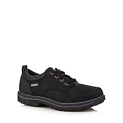 Skechers - Black leather 'Segment Bertan' trainers
