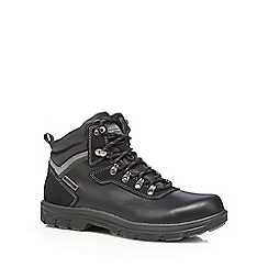 Skechers - Black lace up 'Segment Ander' leather boots