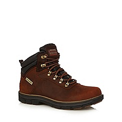 Skechers - Brown leather 'Segment Ander' waterproof boots