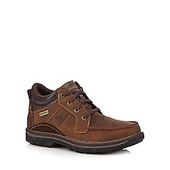 Skechers - Brown leather 'Segment Melego' trainers