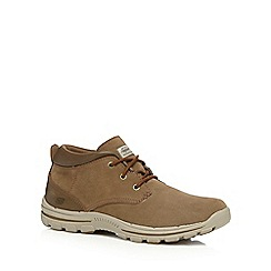 Skechers - Brown leather 'Braver Archon' lace up shoes