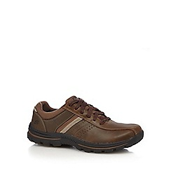 Skechers - Dark brown leather 'Braver Alfano' casual shoes