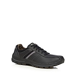 Skechers - Black leather 'Braver Alfano' trainers