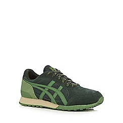 Onitsuka Tiger - Green logo applique lace trainers
