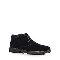 Rieker - Navy suede chukka boots