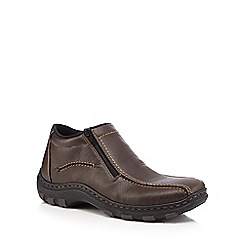Rieker - Brown side zip shoes