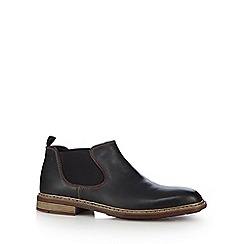 Rieker - Dark brown leather Chelsea boots