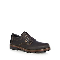 Rieker - Dark brown leather Derby shoes