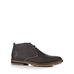 Rieker - Dark brown leather chukka boots