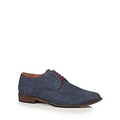 Lotus Since 1759 - Navy suede contrast brogue