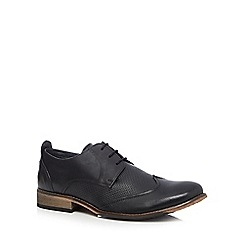 Lotus Since 1759 - Black 'Kade' leather Derby shoes
