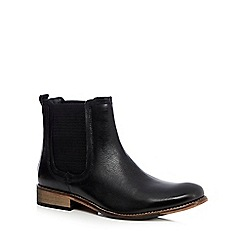 Lotus Since 1759 - Black 'Shasta' leather Chelsea boots