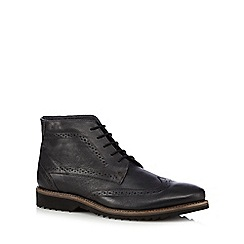 Lotus Since 1759 - Black leather brogue boots