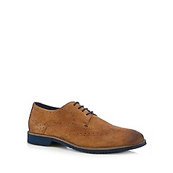 Lotus - Tan suede contrast brogues