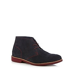 Lotus - Navy suede chukka boots