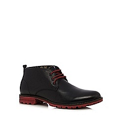 Lotus Since 1759 - Black leather contrast chukka boots