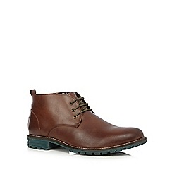 Lotus - Tan leather lace up boots