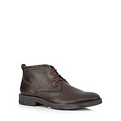Lotus - Brown leather Chukka boots