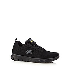 Skechers - Big and tall black 'synergy' lace up trainers