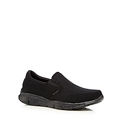 Skechers - Big and tall black 'equalizer persistent' slip-on shoes