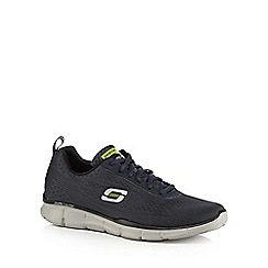 Skechers - Big and tall navy 'equalizer' lace up trainers
