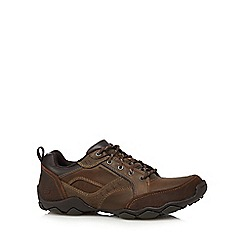 Skechers - Big and tall brown leather 'diameter henrik' shoes
