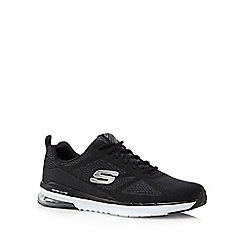 Skechers - Big and tall black memory foam trainers