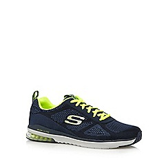 Skechers - Big and tall navy memory foam trainers