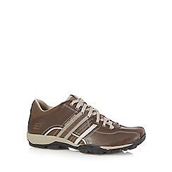 Skechers - Brown 'Urban Tread Refresh' leather trainers