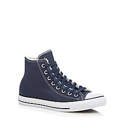 Converse - Navy leather high top trainers