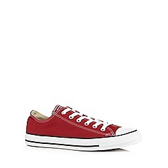 Converse - Red canvas trainers