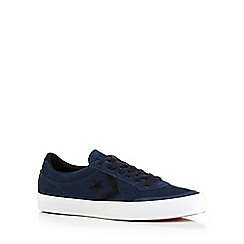Converse - Navy 'Storrow' suede applique trainers