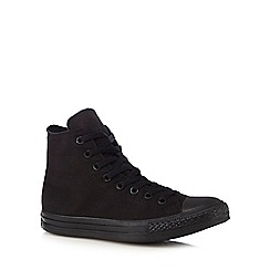 Converse - Black canvas high top trainers