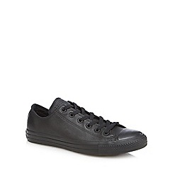 Converse - Black leather 'All Star' trainers
