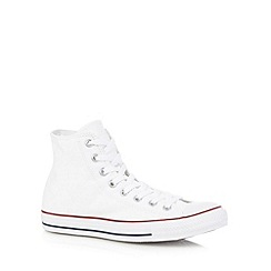 Converse - Big and tall white 'all star' canvas hi-top trainers