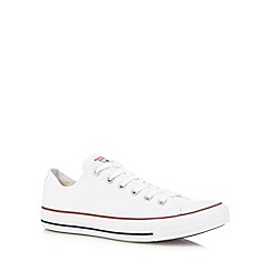 Converse - Big and tall white 'all star' canvas trainers