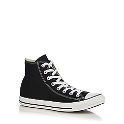 Converse - Big and tall black 'all star' canvas hi-top trainers