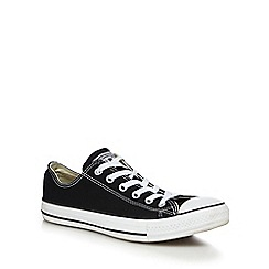 Converse - Big and tall black 'all star' canvas trainers