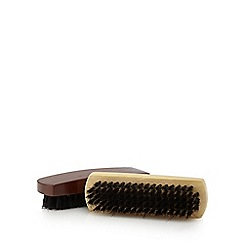 Punch Shoe Care - Brown and white shoe brushes