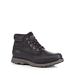 Caterpillar - Black 'Founder' leather lace-up ankle boots