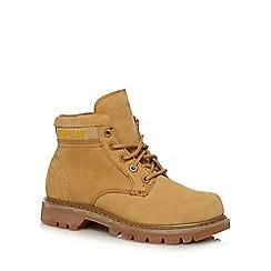 Caterpillar - Beige 'Ridge' suede lace up boots