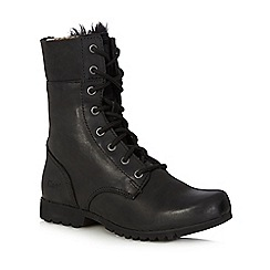 Caterpillar - Black 'Alexi' leather boots