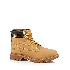 Caterpillar - Tan leather work boots
