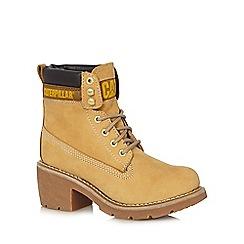 Caterpillar - Beige 'Ottawa' heeled boots